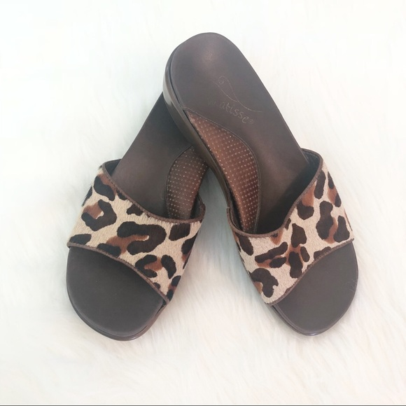 b464573b5 Matisse Shoes | Calf Hair Leopard Mule Sandals | Poshmark